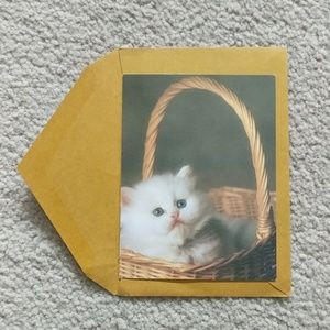 Kitty Cat Card & Envelope - Blank